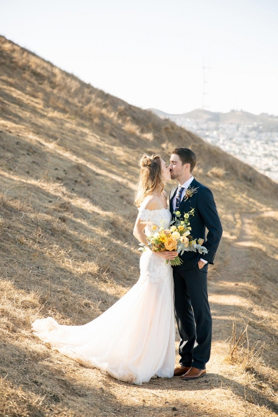 San Francisco Wedding with Nature-Inspired Minimalism and Bold Pops of Color