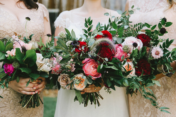 winter bouquets - photo by w&e photographie https://ruffledblog.com/sentimental-loft-wedding-in-birmingham