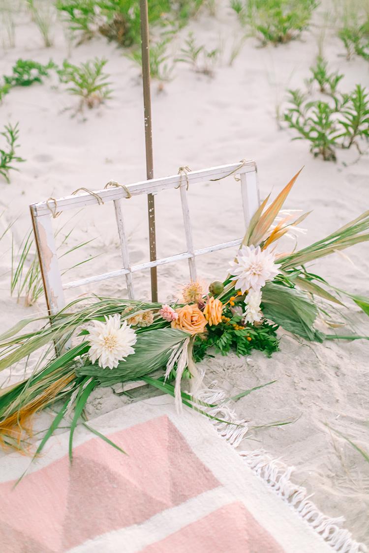 wedding ceremony decor ideas - http://ruffledblog.com/september-sunsets-wedding-inspiration-with-a-vw-bus