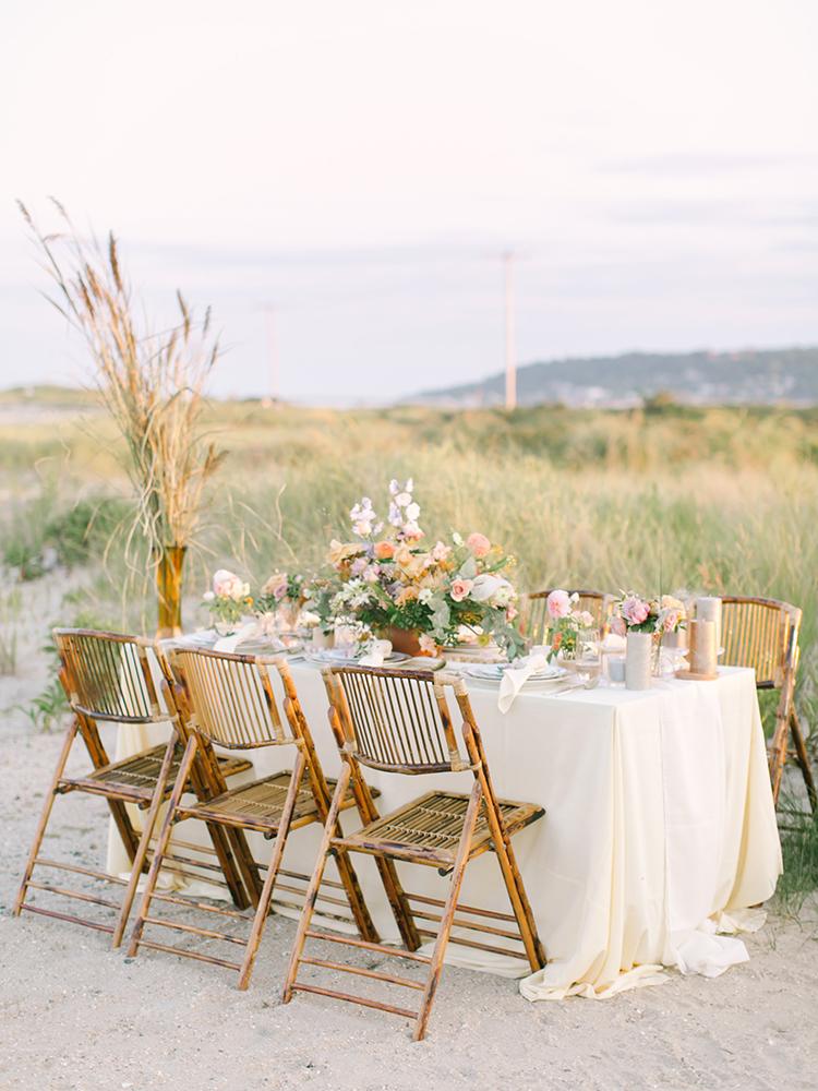 romantic sunset inspired wedding ideas - http://ruffledblog.com/september-sunsets-wedding-inspiration-with-a-vw-bus