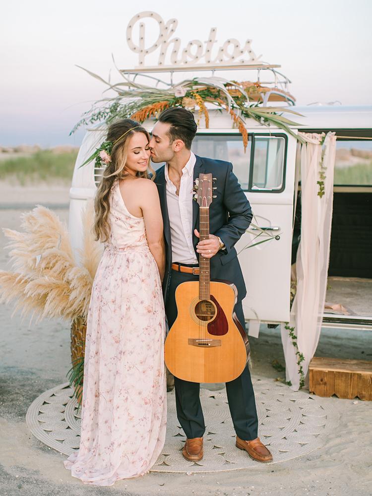 boho wedding inspiration - http://ruffledblog.com/september-sunsets-wedding-inspiration-with-a-vw-bus