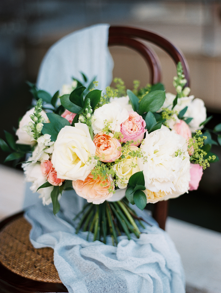 spring wedding flowers - photo by Asia Pimentel Photography http://ruffledblog.com/seriously-chic-destination-wedding-in-punta-cana