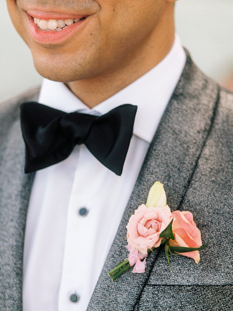 bow tie groom style - photo by Asia Pimentel Photography https://ruffledblog.com/seriously-chic-destination-wedding-in-punta-cana