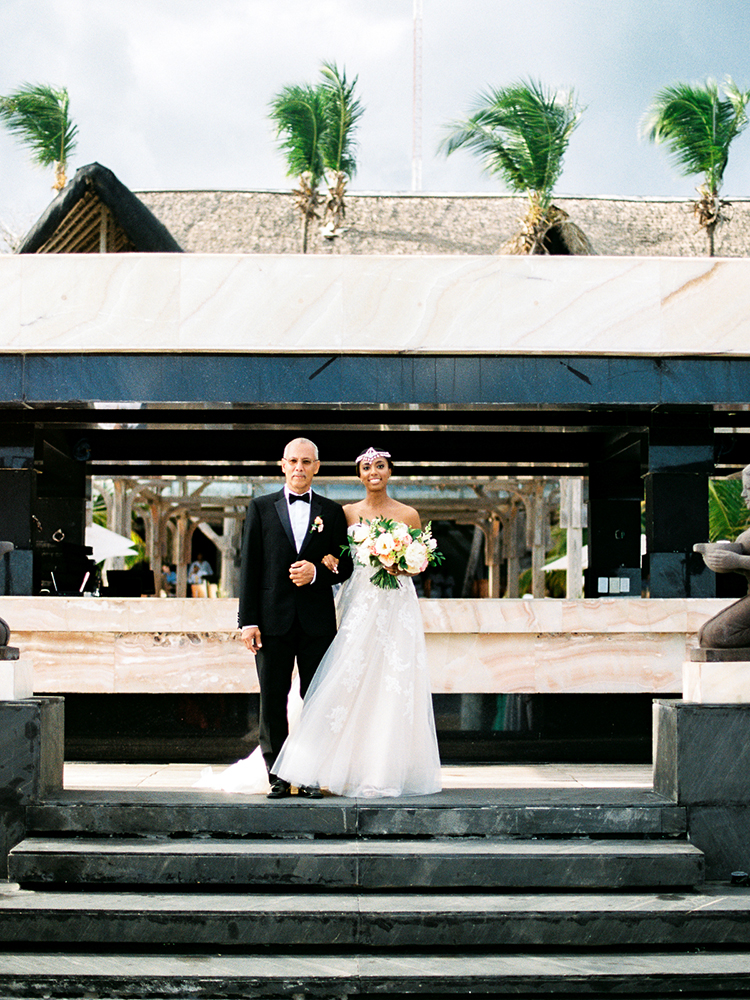 ceremony processionals - photo by Asia Pimentel Photography https://ruffledblog.com/seriously-chic-destination-wedding-in-punta-cana