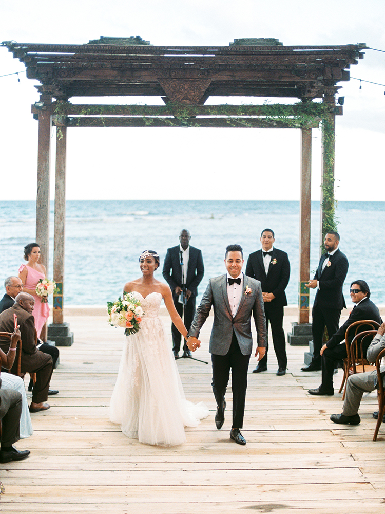 ceremony recessionals - photo by Asia Pimentel Photography https://ruffledblog.com/seriously-chic-destination-wedding-in-punta-cana