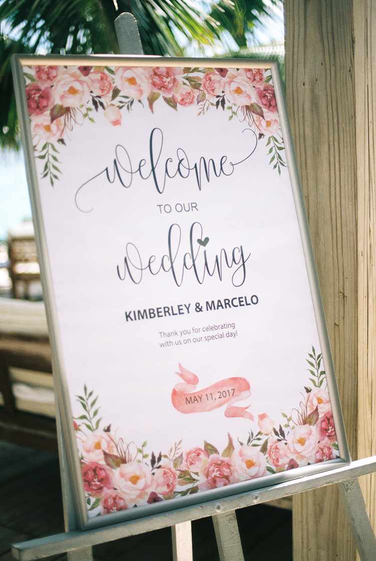 wedding signs - photo by Asia Pimentel Photography http://ruffledblog.com/seriously-chic-destination-wedding-in-punta-cana