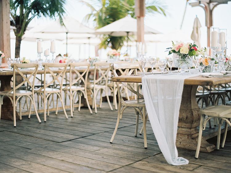 wedding reception tables - photo by Asia Pimentel Photography http://ruffledblog.com/seriously-chic-destination-wedding-in-punta-cana