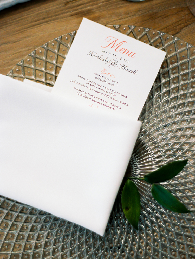 wedding paper goods - photo by Asia Pimentel Photography http://ruffledblog.com/seriously-chic-destination-wedding-in-punta-cana
