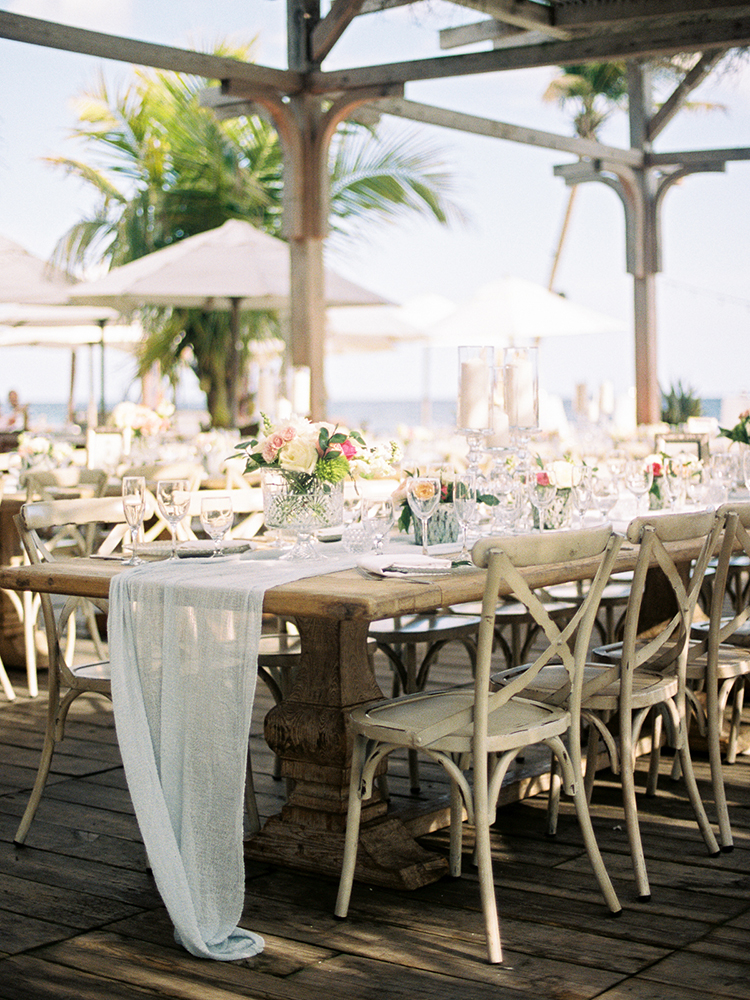 beach wedding receptions - photo by Asia Pimentel Photography http://ruffledblog.com/seriously-chic-destination-wedding-in-punta-cana
