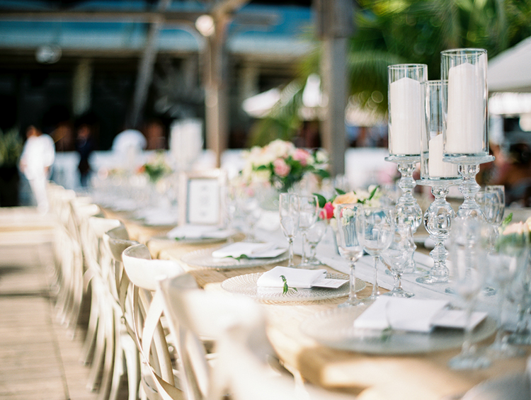 wedding tables - photo by Asia Pimentel Photography http://ruffledblog.com/seriously-chic-destination-wedding-in-punta-cana