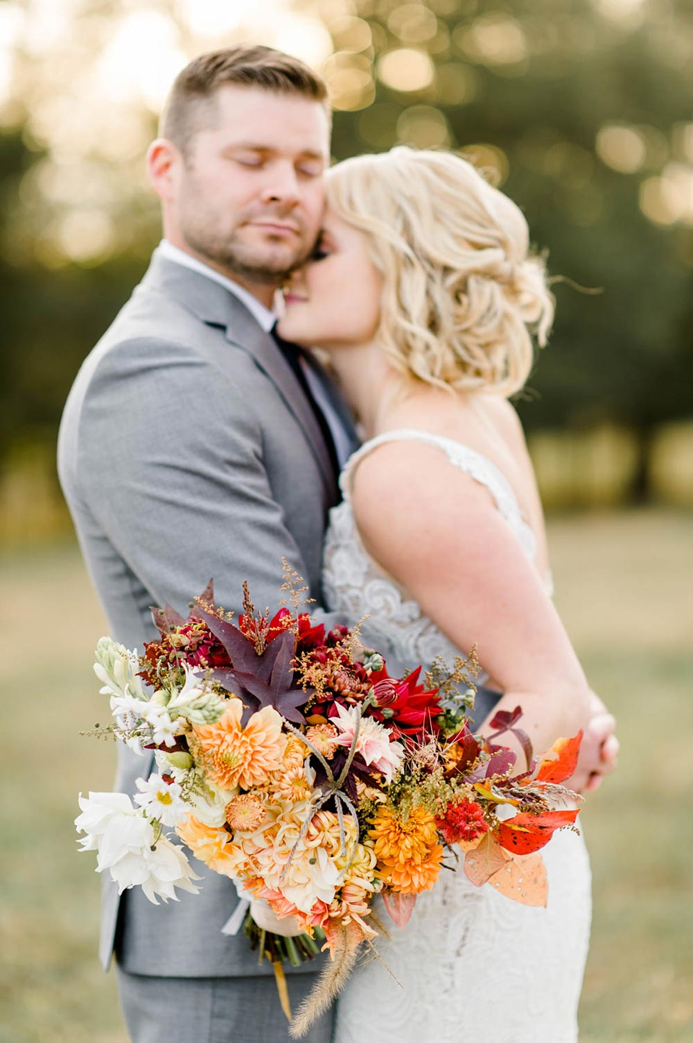 warm earth toned bridal bouquet
