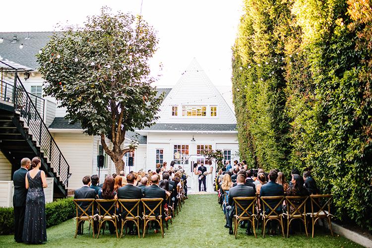 backyard wedding ceremonies - photo by Birds of a Feather http://ruffledblog.com/soft-and-romantic-wedding-at-lombardi-house