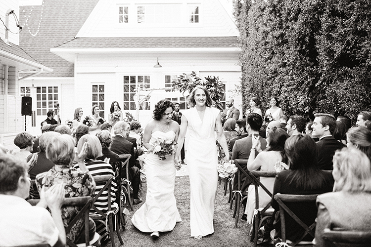 ceremony recessionals - photo by Birds of a Feather https://ruffledblog.com/soft-and-romantic-wedding-at-lombardi-house
