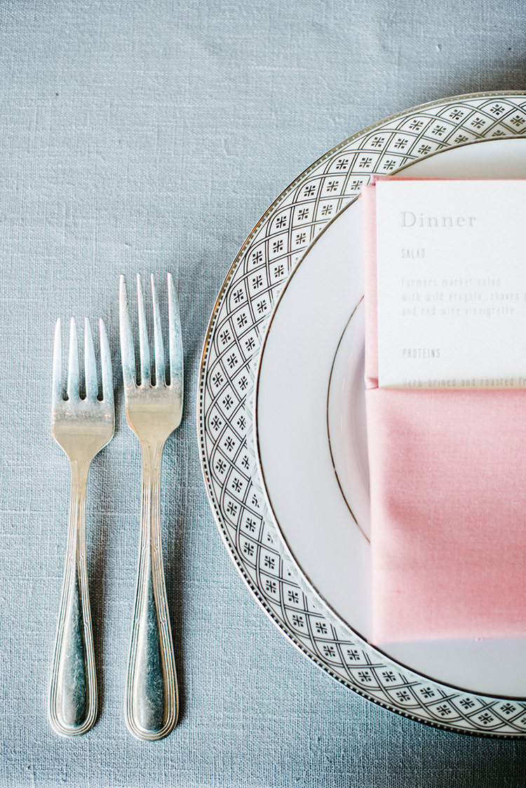 grey and pink weddings