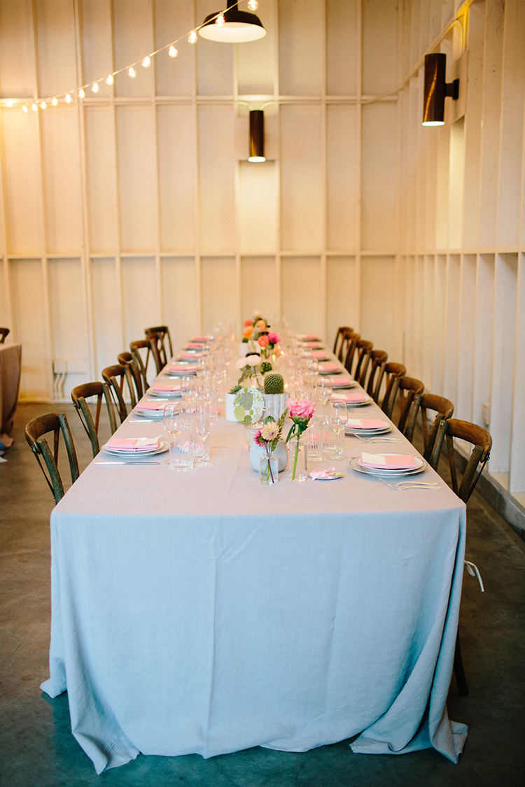 romantic wedding tables - photo by Birds of a Feather http://ruffledblog.com/soft-and-romantic-wedding-at-lombardi-house
