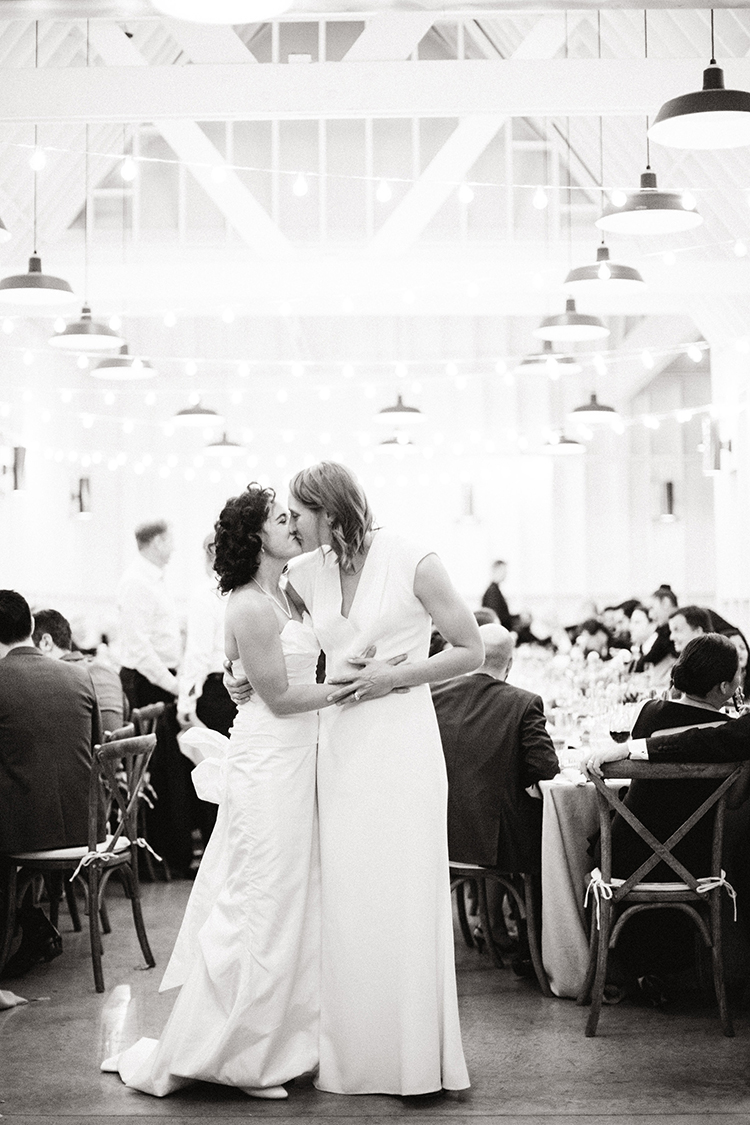 same sex wedding photographer - photo by Birds of a Feather http://ruffledblog.com/soft-and-romantic-wedding-at-lombardi-house