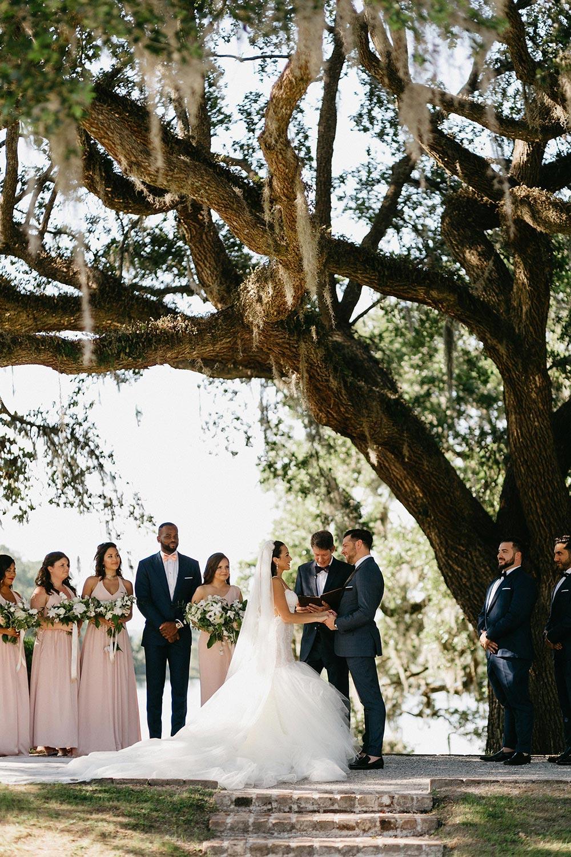 historic oak tree wedding ceremony
