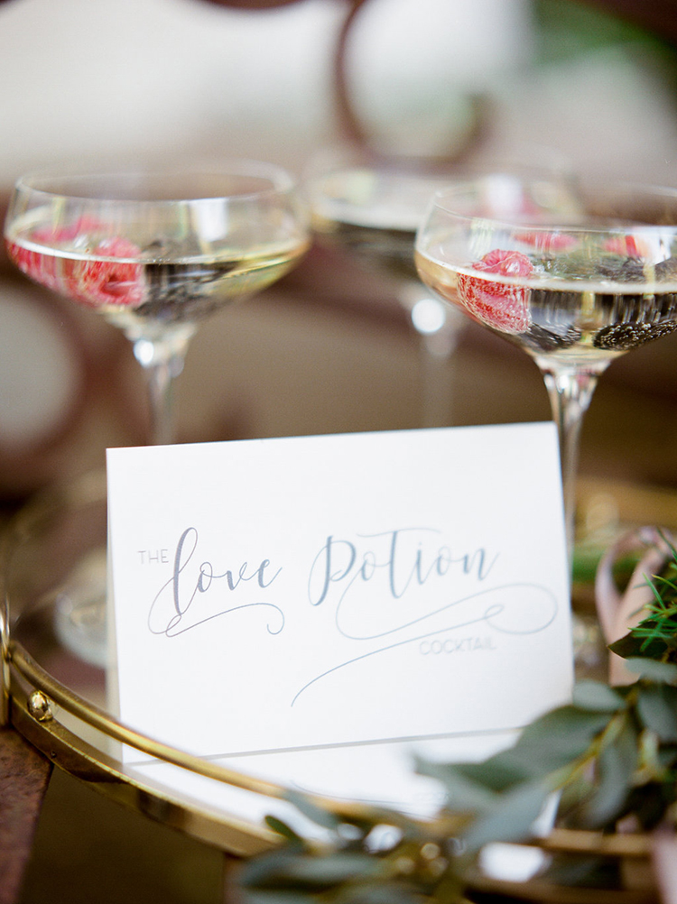 wedding drinks - photo by Julie Paisley http://ruffledblog.com/southern-summer-wedding-inspiration-with-berry-hues