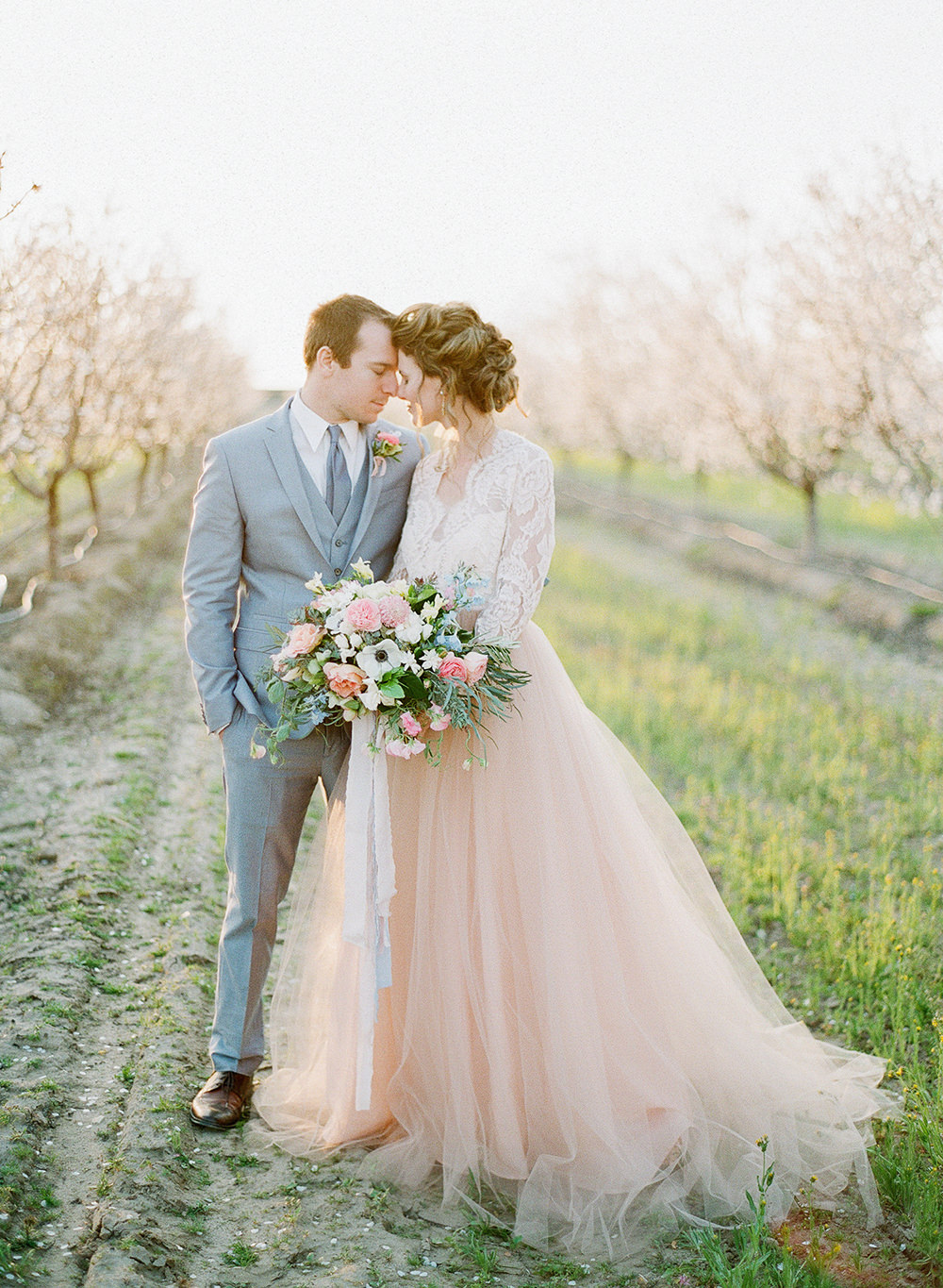 Spring Almond Orchard Wedding Inspiration - photo by Katie McGihon Photography https://ruffledblog.com/spring-almond-orchard-wedding-inspiration