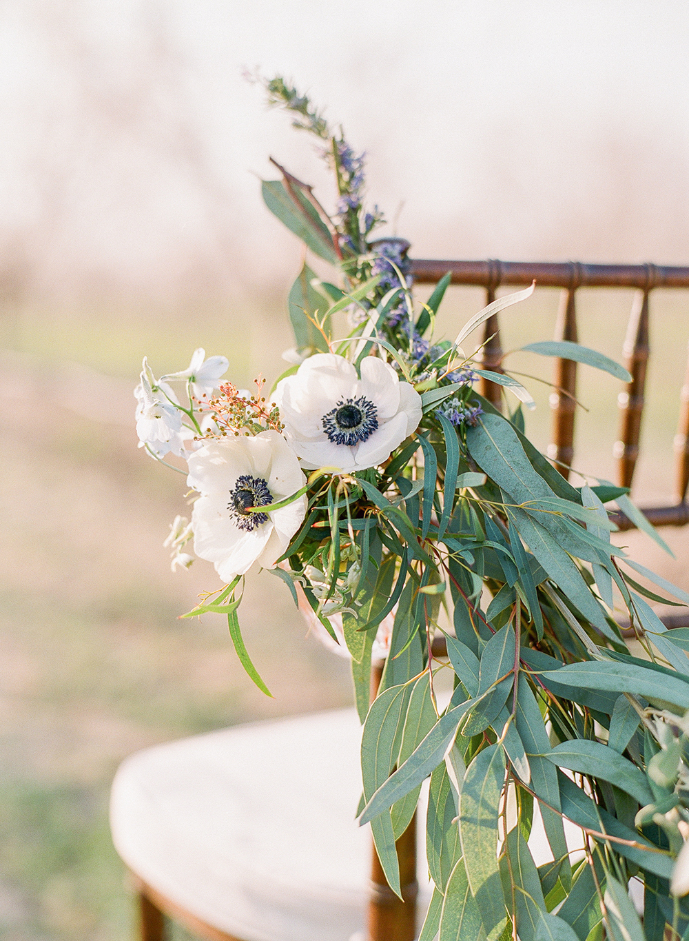 ceremony chairs - photo by Katie McGihon Photography https://ruffledblog.com/spring-almond-orchard-wedding-inspiration