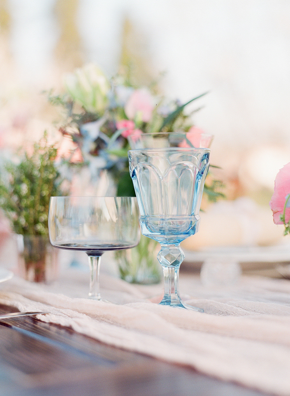 wedding table details - photo by Katie McGihon Photography https://ruffledblog.com/spring-almond-orchard-wedding-inspiration
