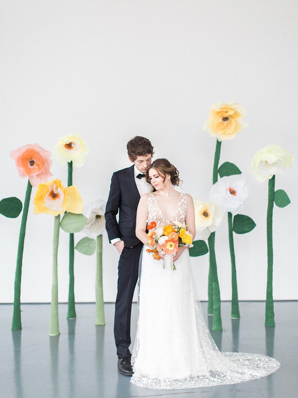 Poppies orange wedding