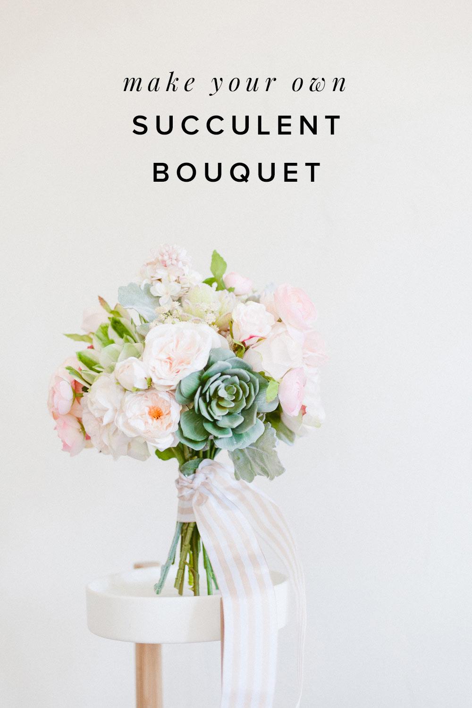 Succulent Pink Bouquet