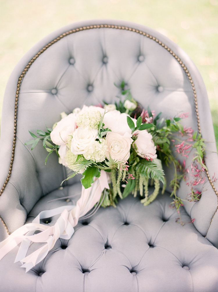 romantic floral bouquets - photo by Christy Wilson Photography https://ruffledblog.com/summer-castle-soiree-wedding-inspiration