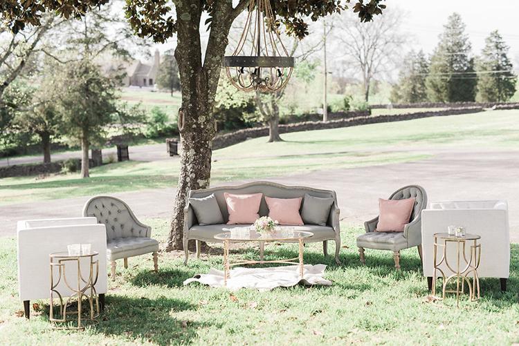 lounge areas - photo by Christy Wilson Photography http://ruffledblog.com/summer-castle-soiree-wedding-inspiration