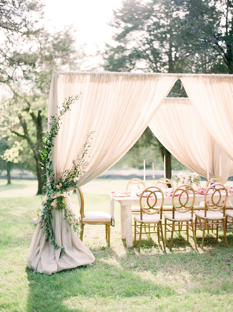 romantic wedding receptions - photo by Christy Wilson Photography https://ruffledblog.com/summer-castle-soiree-wedding-inspiration