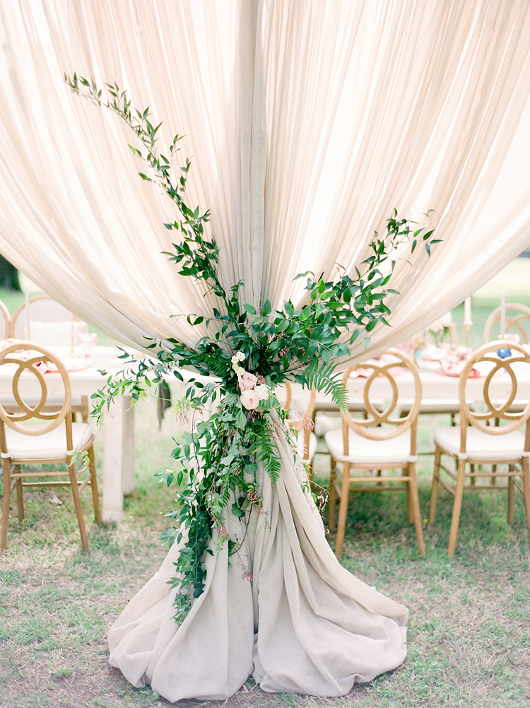 greenery at weddings - photo by Christy Wilson Photography https://ruffledblog.com/summer-castle-soiree-wedding-inspiration