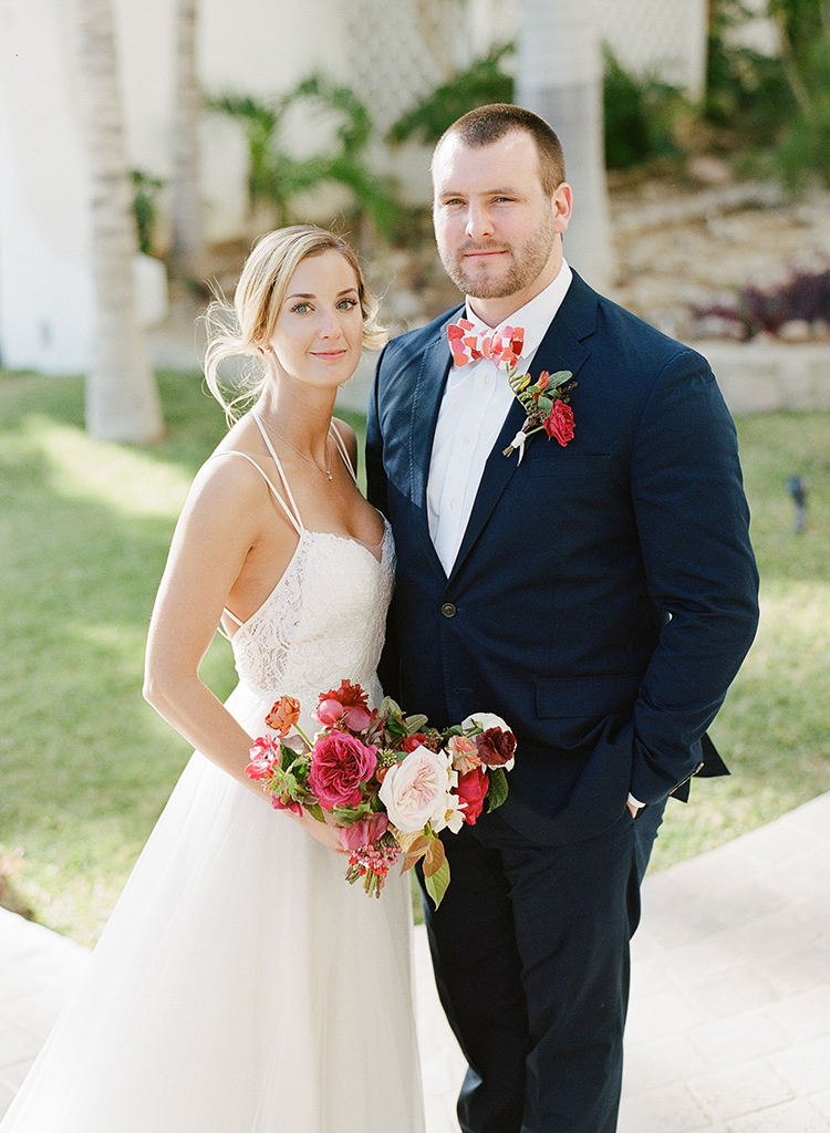 wedding portraits - photo by Ana and Jerome https://ruffledblog.com/summer-destination-wedding-in-mexico-with-bright-pinks