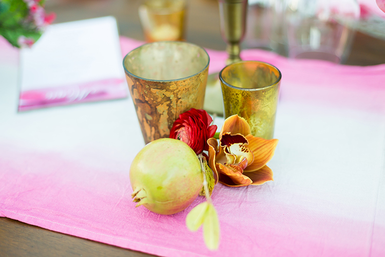 petite centerpieces - photo by Ana and Jerome https://ruffledblog.com/summer-destination-wedding-in-mexico-with-bright-pinks