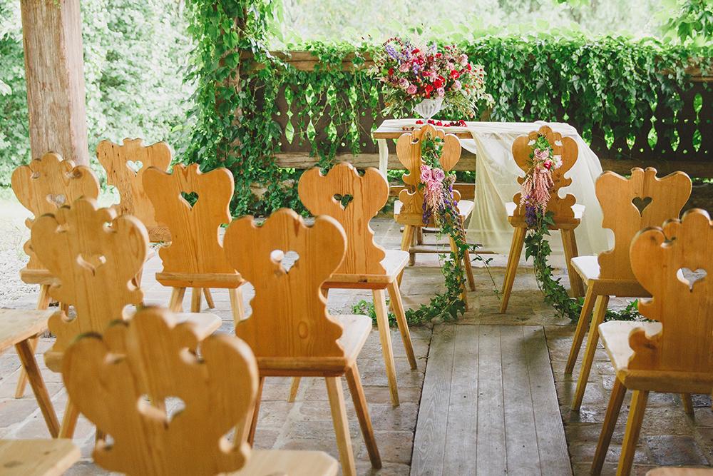 wedding ceremony seating - photo by Warm Photo http://ruffledblog.com/summer-love-wedding-in-austria