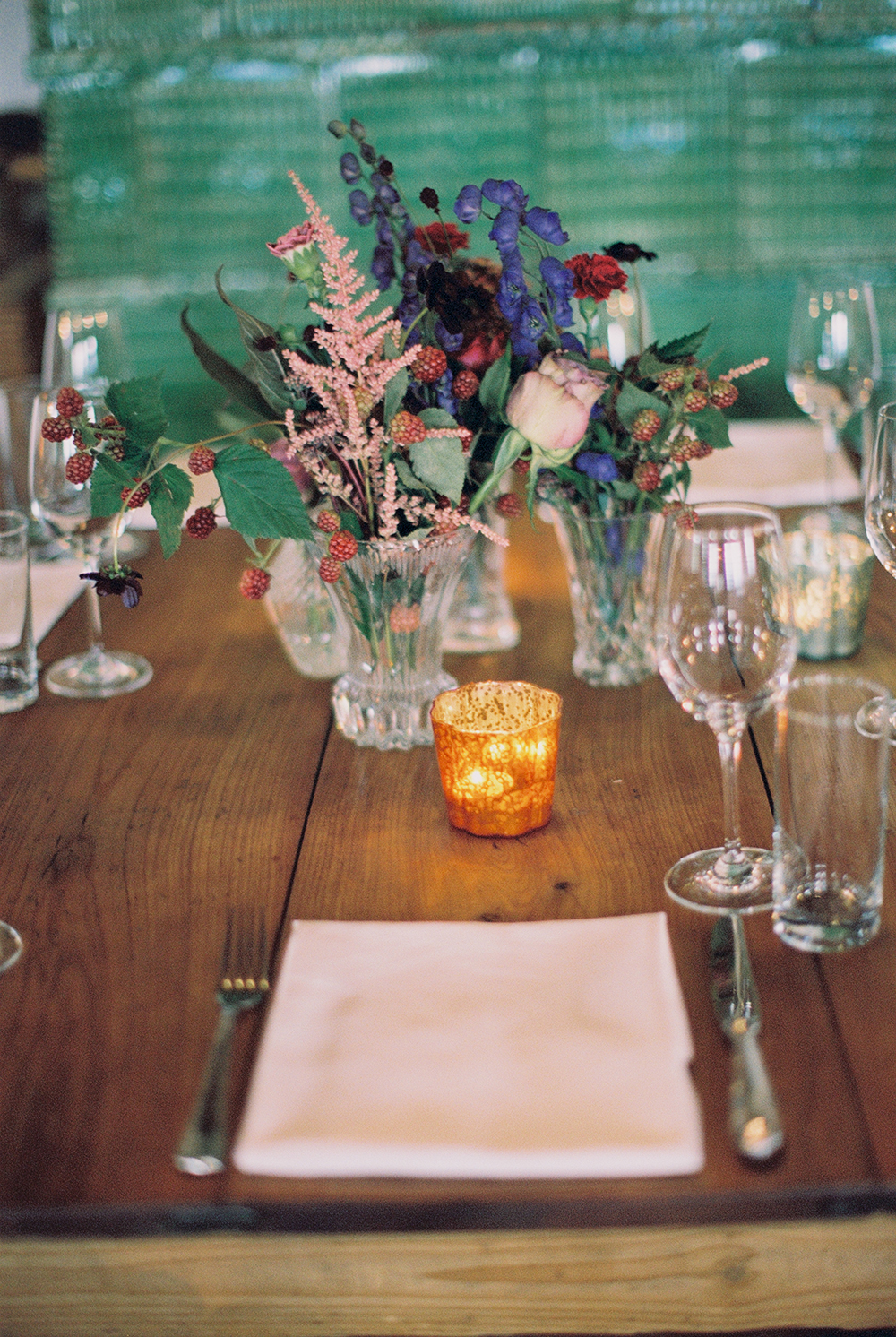 place settings - photo by Warm Photo https://ruffledblog.com/summer-love-wedding-in-austria