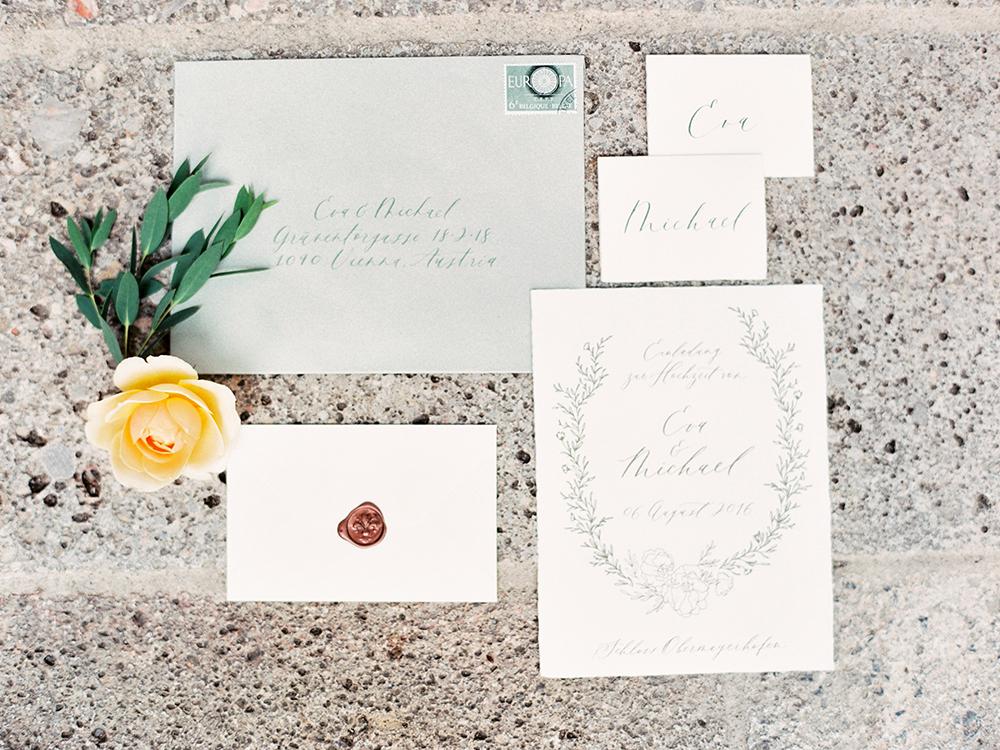 wedding invitations - photo by Warm Photo http://ruffledblog.com/summer-love-wedding-in-austria