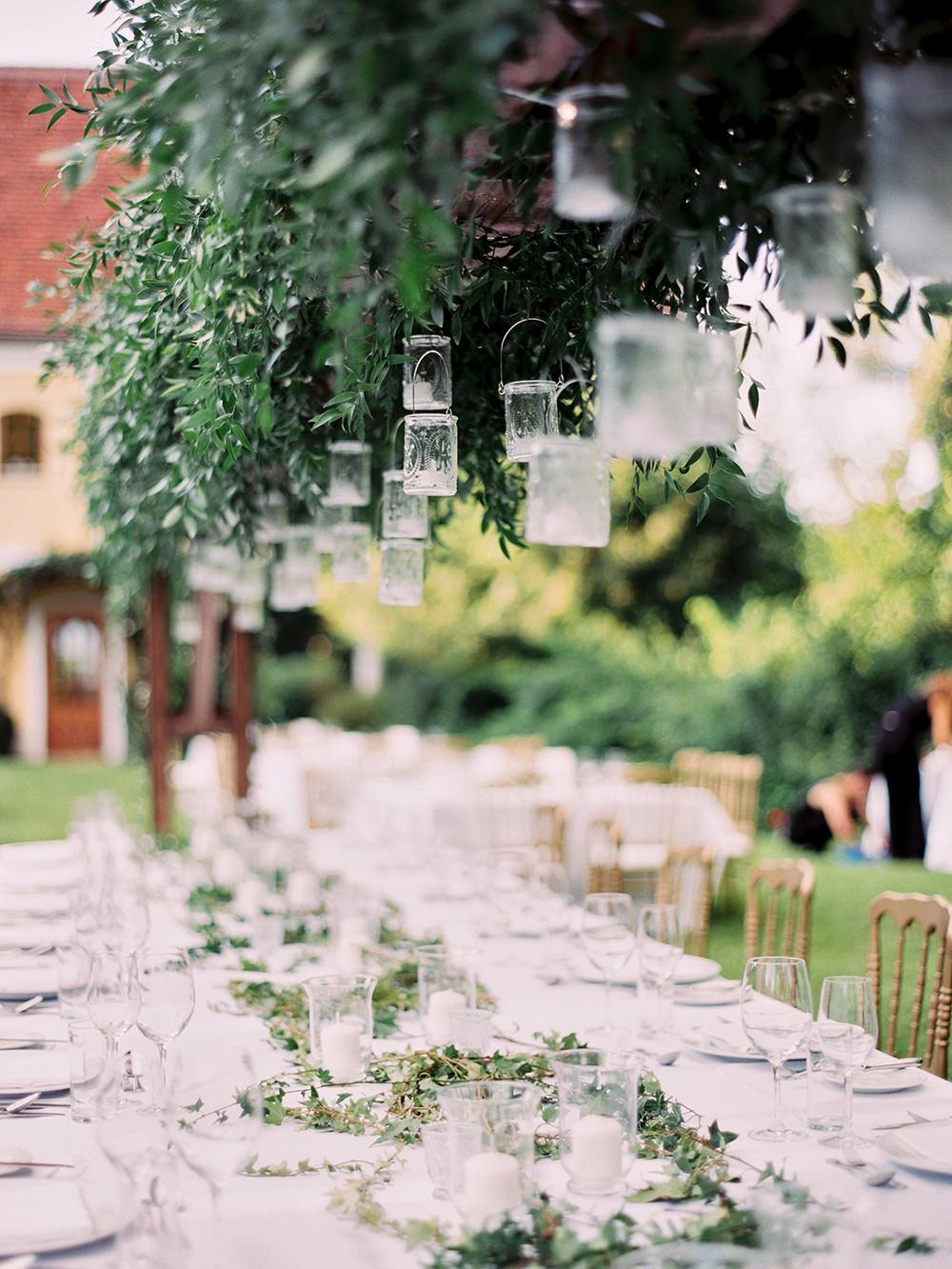 wedding centerpiece ideas - photo by Warm Photo http://ruffledblog.com/summer-love-wedding-in-austria