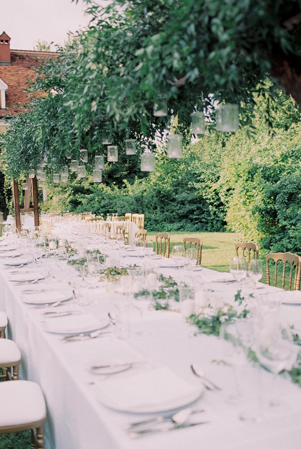 wedding tablescapes - photo by Warm Photo http://ruffledblog.com/summer-love-wedding-in-austria