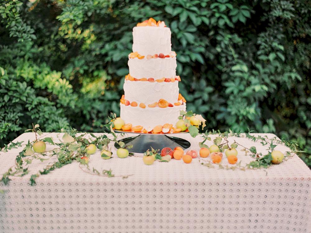 wedding cake tables - photo by Warm Photo http://ruffledblog.com/summer-love-wedding-in-austria