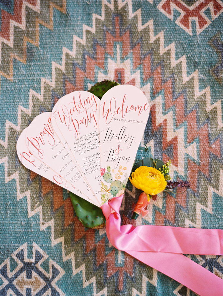 wedding paper goods - photo by Charla Storey Photography https://ruffledblog.com/summer-loving-wedding-inspiration-with-a-fiesta-brunch