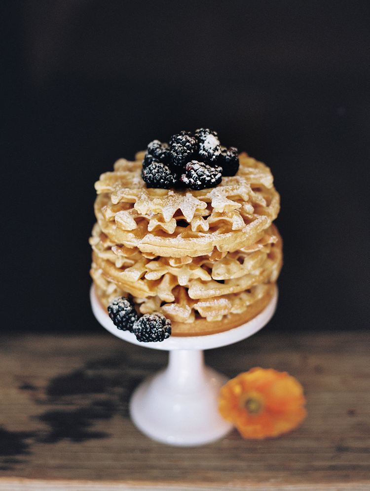 waffle cakes - photo by Charla Storey Photography https://ruffledblog.com/summer-loving-wedding-inspiration-with-a-fiesta-brunch