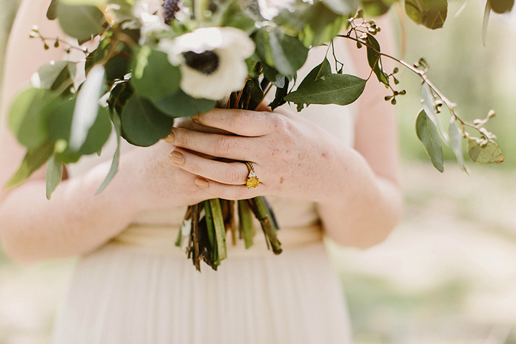 unique wedding rings - photo by Elizabeth M Photography http://ruffledblog.com/summer-meets-fall-wedding-inspiration-in-the-woods