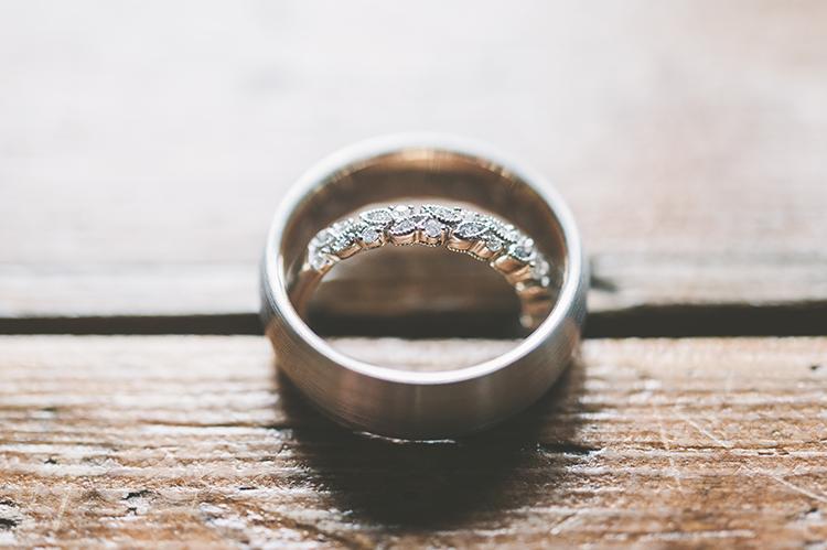 wedding rings - photo by Paper Antler http://ruffledblog.com/summer-sunset-wedding-in-wisconsin