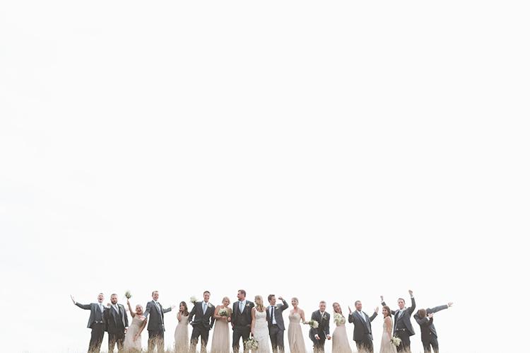 wedding parties - photo by Paper Antler http://ruffledblog.com/summer-sunset-wedding-in-wisconsin