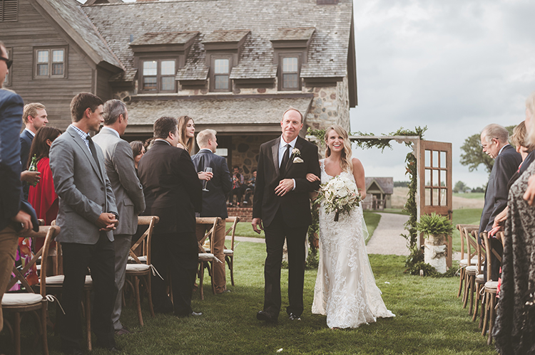 ceremony processionals - photo by Paper Antler https://ruffledblog.com/summer-sunset-wedding-in-wisconsin