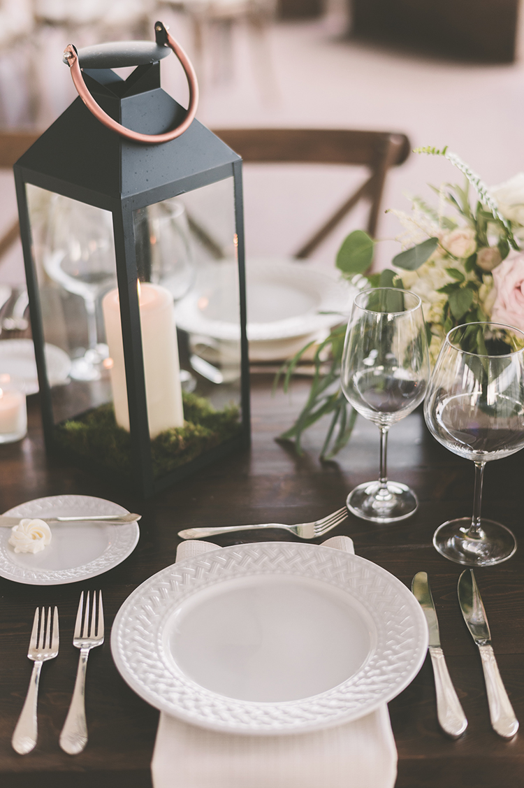 place settings - photo by Paper Antler http://ruffledblog.com/summer-sunset-wedding-in-wisconsin