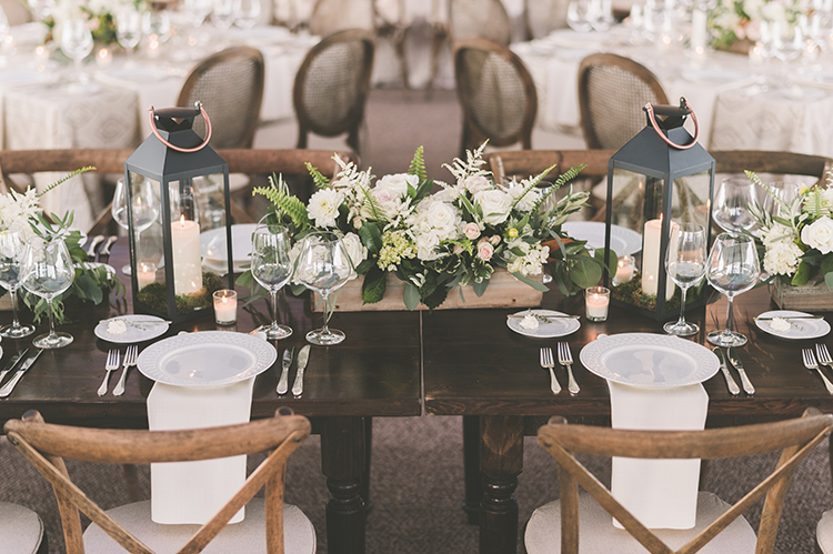 wedding tables - photo by Paper Antler https://ruffledblog.com/summer-sunset-wedding-in-wisconsin
