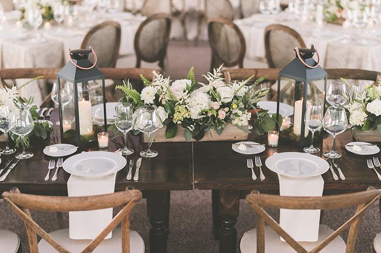 wedding tables - photo by Paper Antler http://ruffledblog.com/summer-sunset-wedding-in-wisconsin