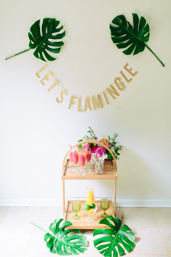 lets flamingle - photo by Madison Short Photography https://ruffledblog.com/sunny-palm-springs-wedding-inspiration