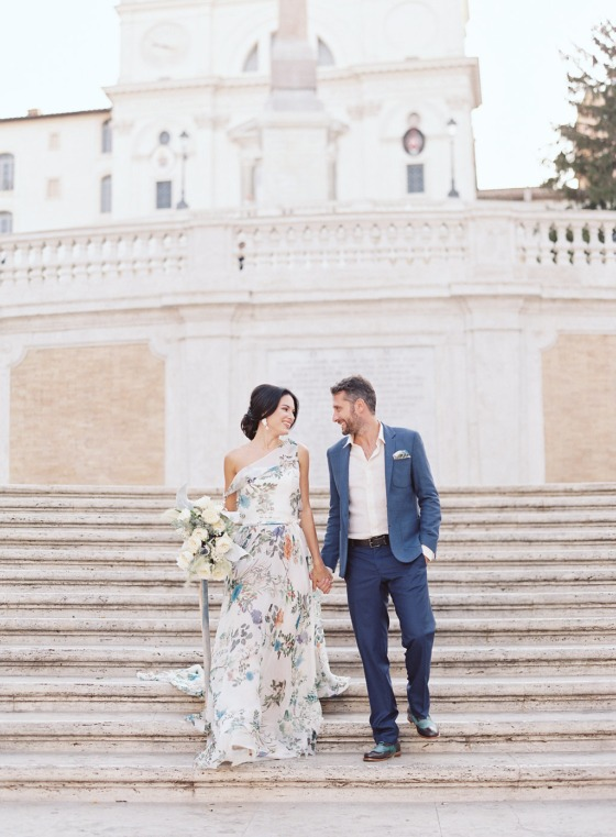 Sunrise Elopement Session in Rome, The Eternal City